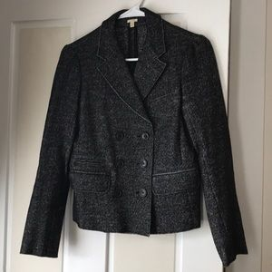 J. Crew tweed blazer size 4 black